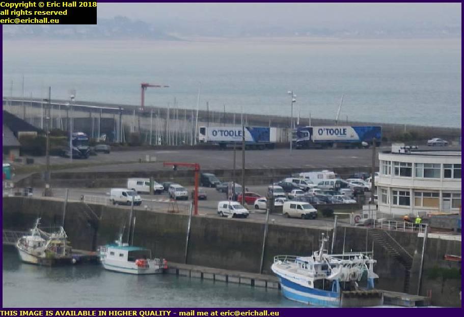 o'toole lorries port de granville harbour manche normandy france