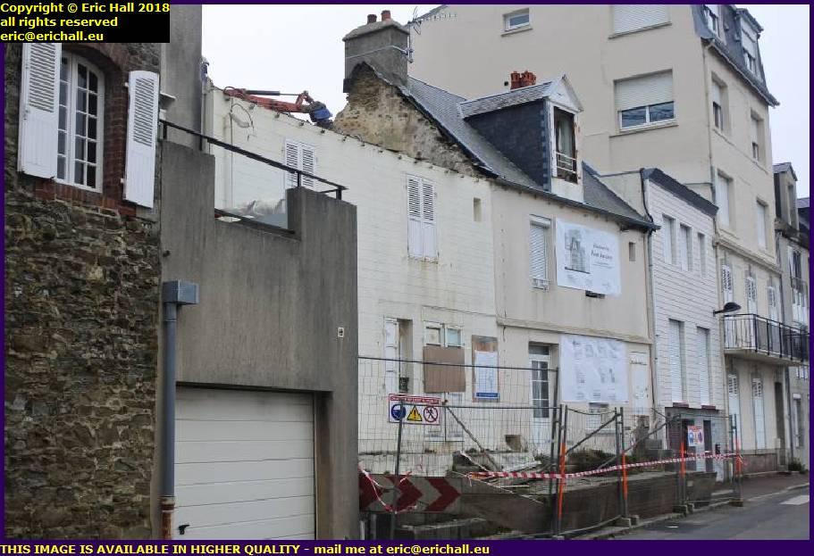 demolition rue st gaude granville manche normandy france