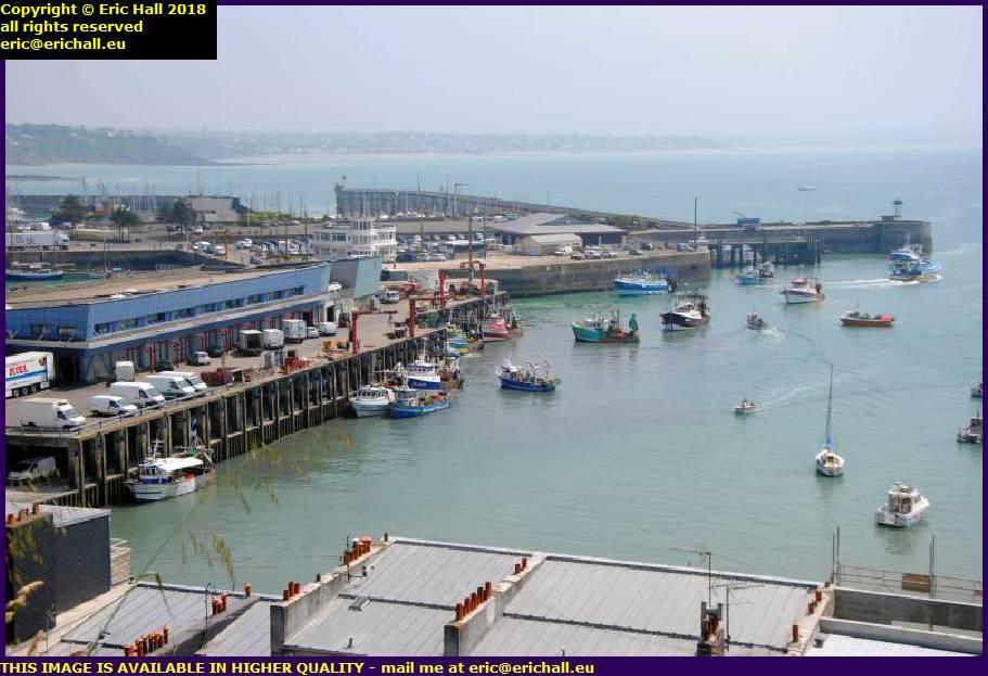 fishing boats port de granville harbour manche normandy france