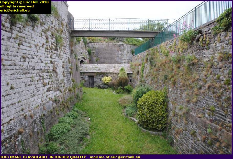 medieval fortifications granville manche normandy france