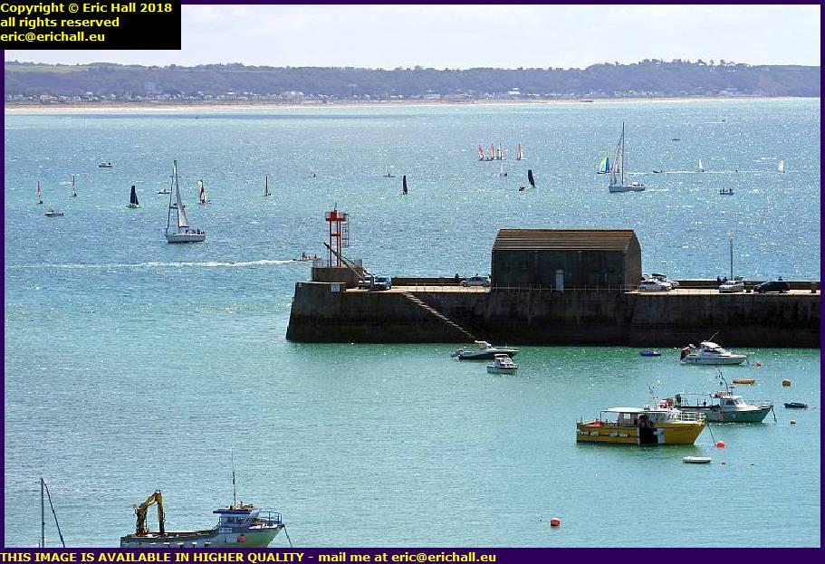 boats baie de mont st michel port de granville harbour manche normandy france