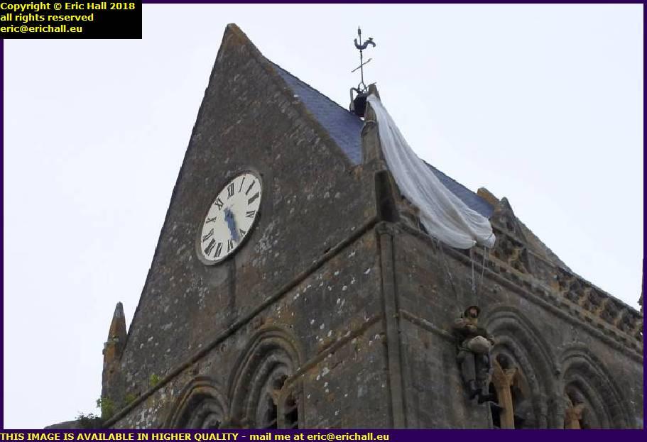 parachutist church st mere eglise normandy france
