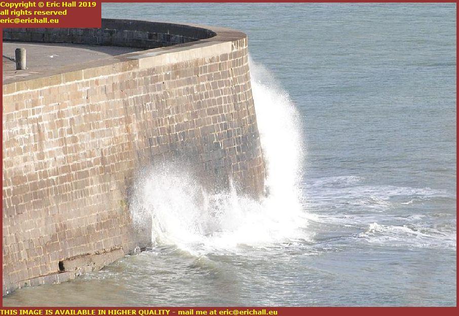 storm port de granville harbour manche normandy france