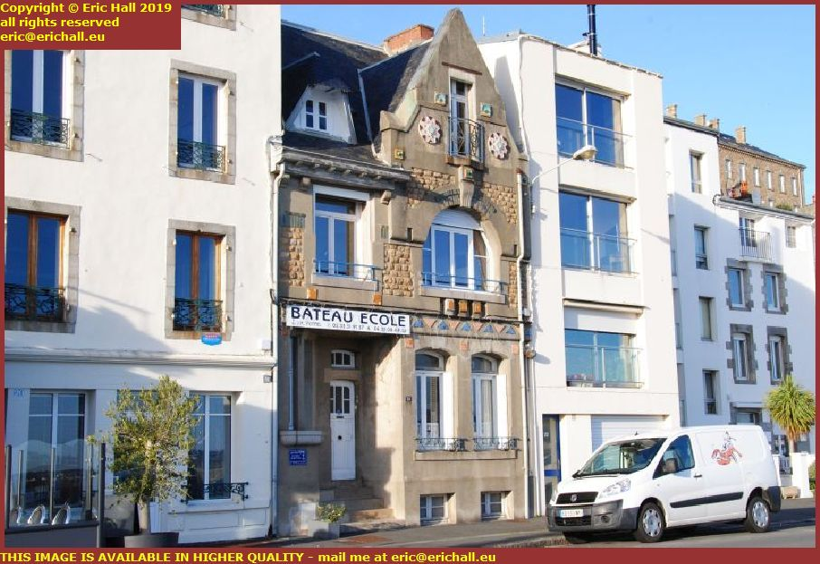 art deco building rue du port granville manche normandy france