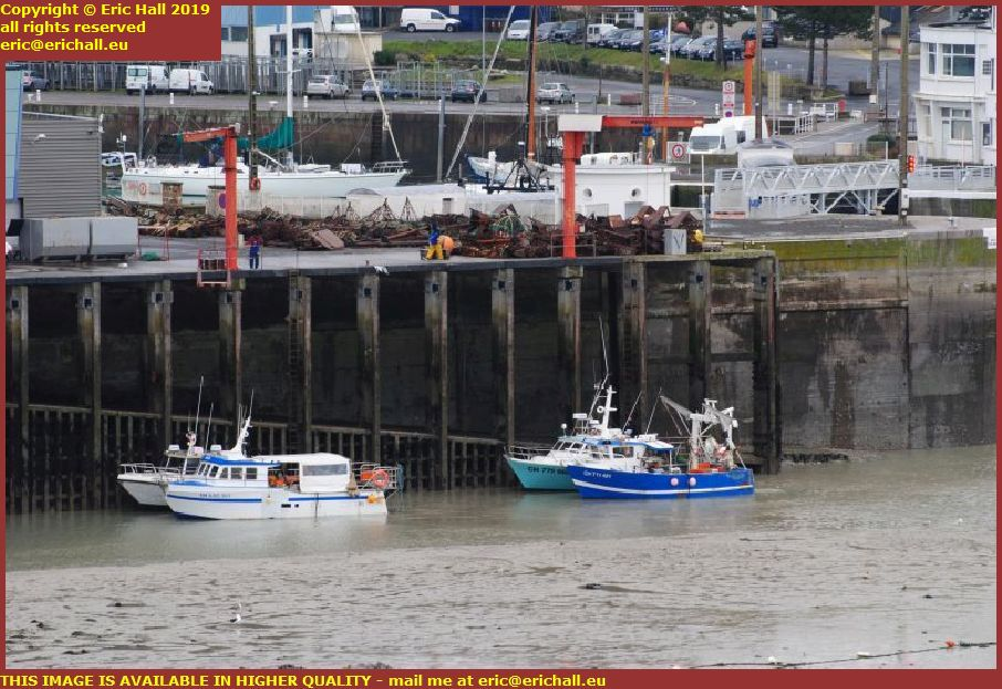 fishing boats port de granville harbour manche normandy france