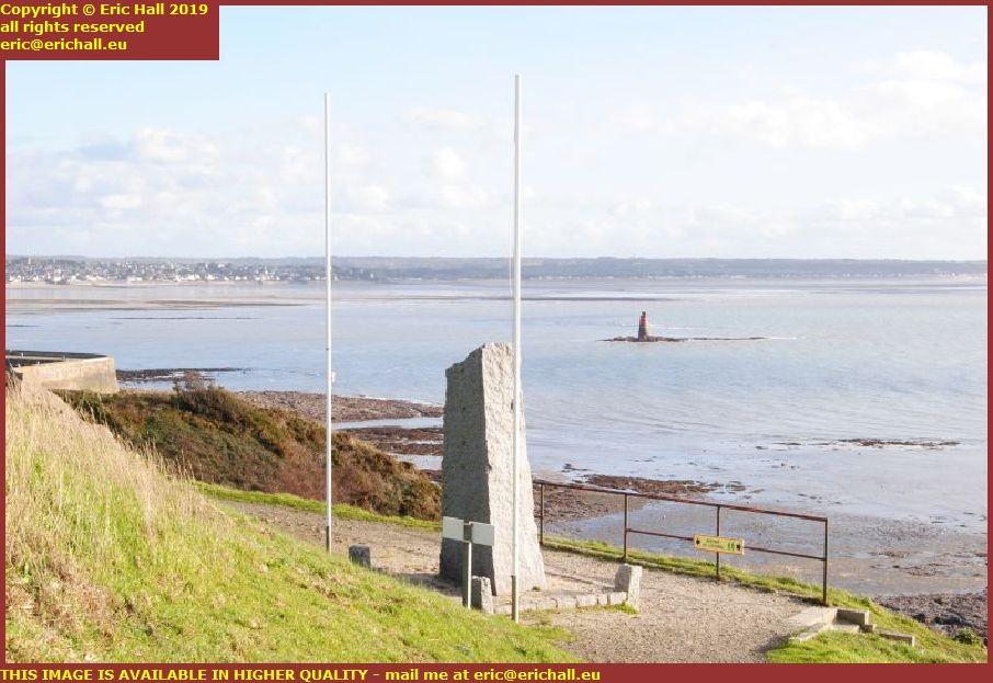 lifeboat statue baie de mont st michel st pair sur mer granville manche normandy france