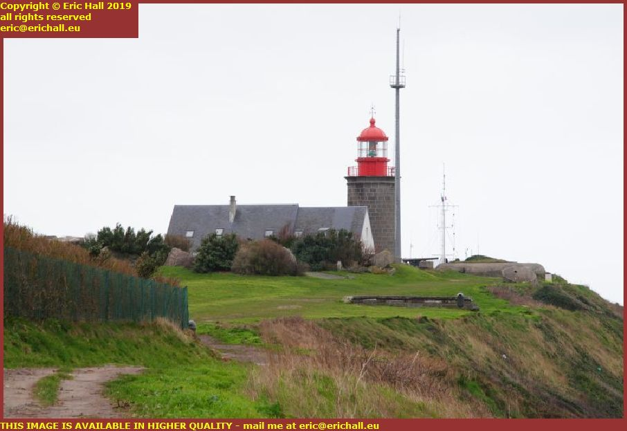 lighthouse atlantic wall bunker pointe du roc granville manche normandy france