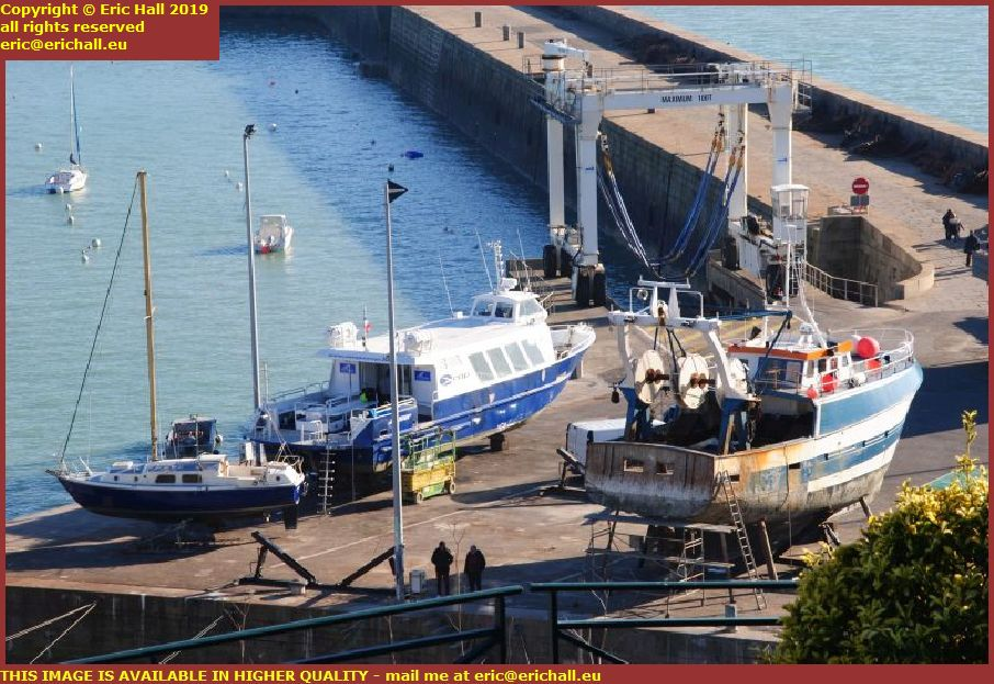 chantier navale port de granville harbour manche normandy france