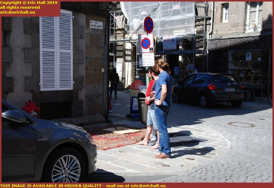 playing palet rue notre dame granville manche normandy france