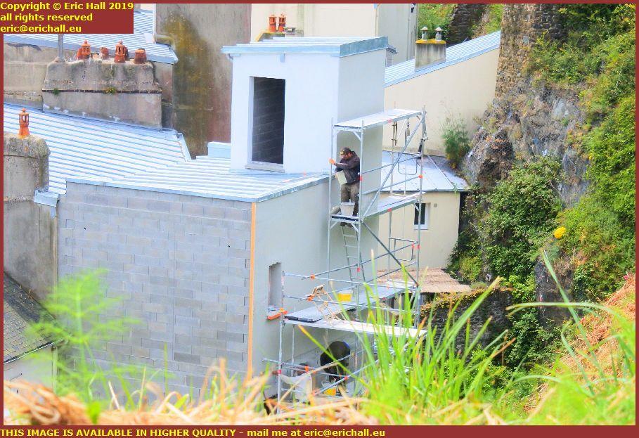 rendering house repairs rue du port granville manche normandy france