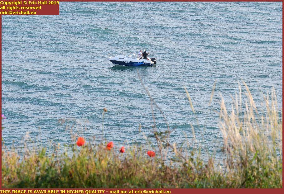 speedboat pointe du roc granville manche normandy france