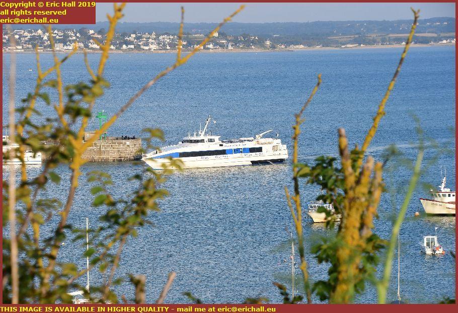 channel islands ferry port de granville harbour manche normandy france