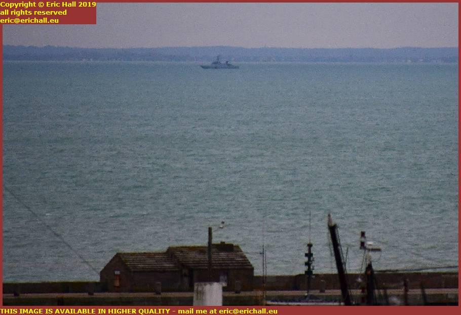 navy patrol vessel bair de mont st michel brittany granville manche normandy france