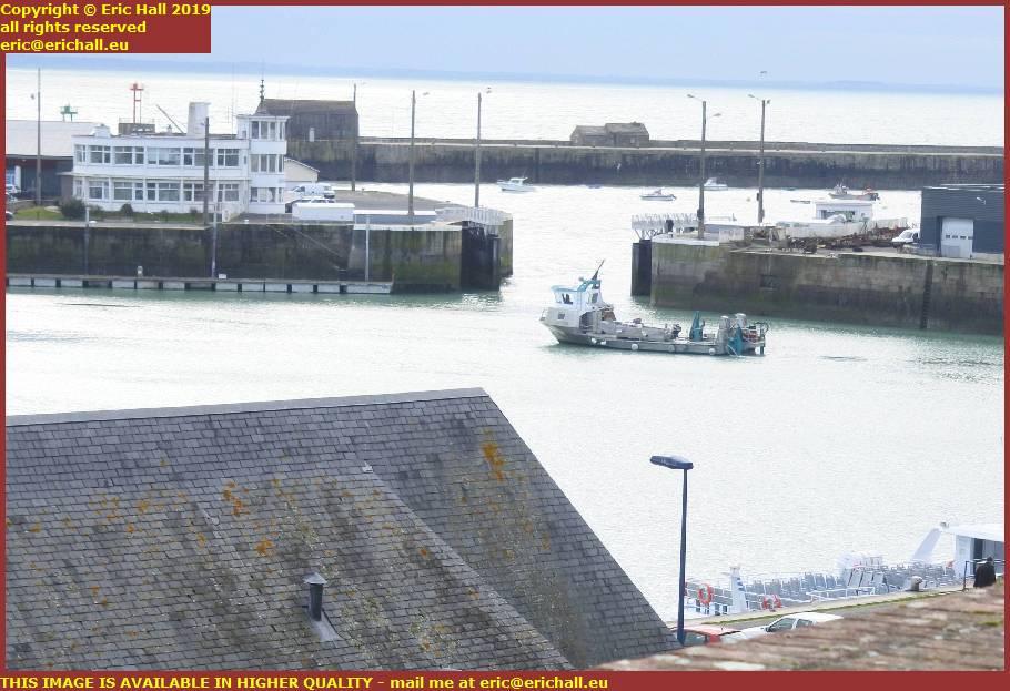 la grande ancre waiting to leave port de granville harbour manche normandy france