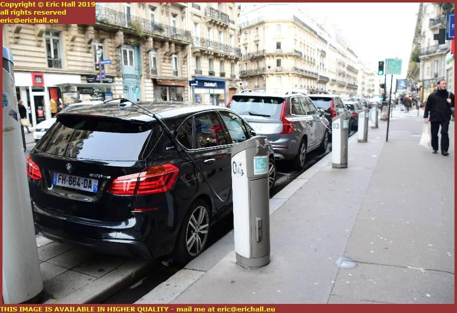electric vehicle charging points rue de rennes paris france