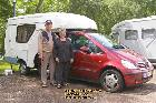 maillet rando car caravan attached to car june juin 2009 copyright free photo royalty free photo
