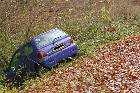 crash renault twingo teilhet menat neuf eglise combrailles puy de dome auvergne france november novembre 2009 copyright free photo royalty free photo