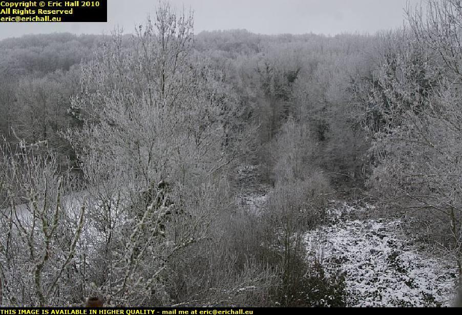 heavy snowfall les guis virlet auvergne puy de dome france