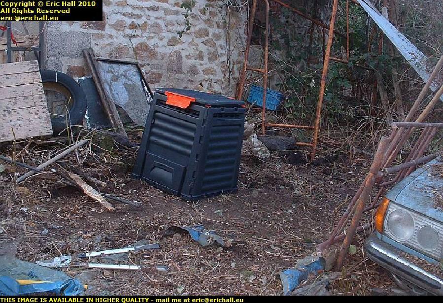 plastic compost bin les guis virlet puy de dome france